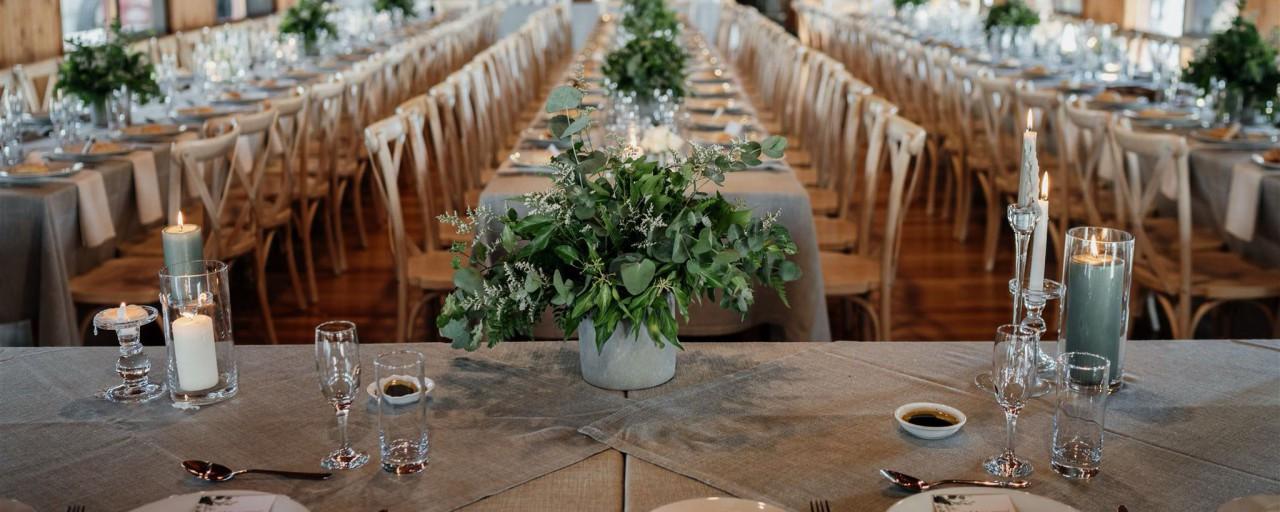 Kangaroobie Weddings - Table setting