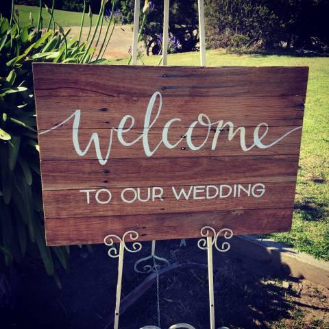 Kangaroobie Weddings - Welcome to your wedding